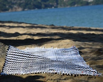 Hand crafted beach towel / Beach mat / Yoga mat