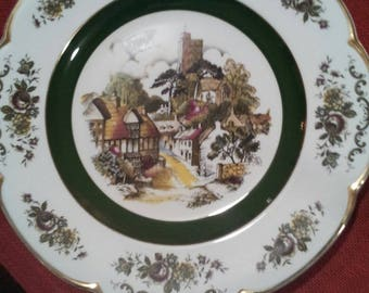 "Collectible ASCOT SERVICE PLATE by Wood and Sons England, ceramic 10.5"" plate."