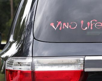 Vino Life Diecut Decal Merlot color