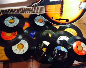"Vintage 45s RPM 7"" records, pick your set or customize"