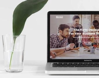 "Wordpress Theme ""Mendes"" // Multipupose Responsive Premade Wordpress Design"