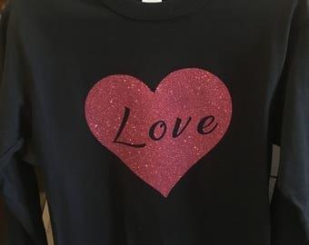 Valentine's Day Glitter T-Shirts
