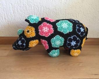 African Flower Rhino/Rhino