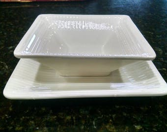 Erphila Czechoslovakia square dish and bowl
