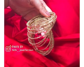 Second Hand Collection - Acrylic Gold Beaded Bracelet