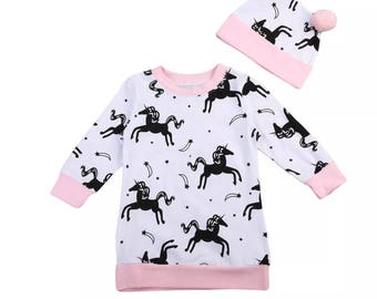 Unicorn and Hat Jumper Dress