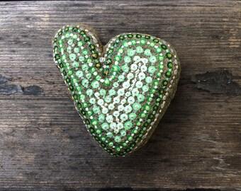 Stone handpainted Heart