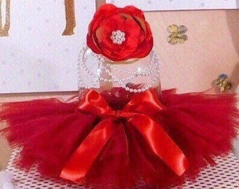 Baby Tutu Flower Pearl Headband Newborn Ballerina Prop Child Costume