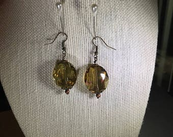 Golden Crystal Earrings