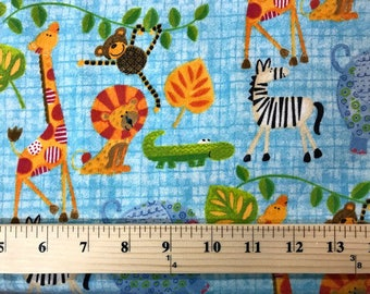 It's A jungle In Here, Henry Glass, Flannel Fabric