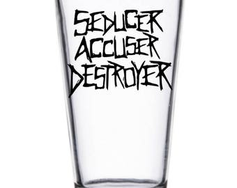 Bray Wyatt WWE Wrestler Wrestling Pint Wine Glass Tumbler Alcohol Drink Cup Barware Squared Circle