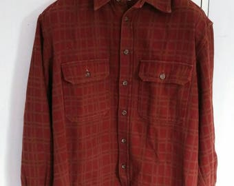 Vintage C.P. COMPANY button down flannel shirt made in italy not a.p.c gucci chanel fendi louis vuitton givenchy versace burberry balenciaga