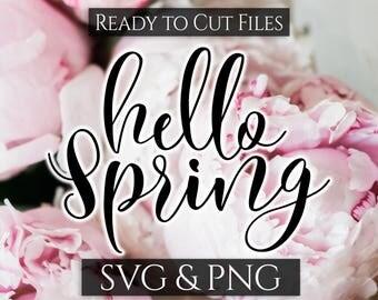 Hello Spring Svg, Easter Svg File, Spring Svg, Hello Spring Cut file, Welcome Spring Svg, Happy Easter Svg, Farmhouse Spring