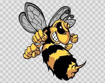 Decals Decal Bee Hornet Wasp Vespa Motorbike Vinyl 10009