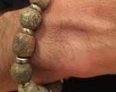 Daniel's Bracelet- Unique Dinosaur bone beads