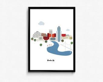 Omaha Skyline Print