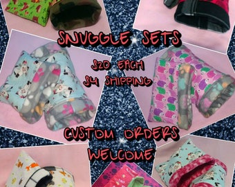 Snuggle sack and tunnel set for small animals