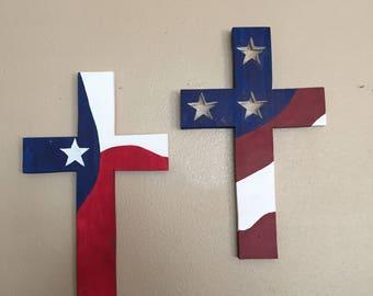 Patriotic Crosses wood