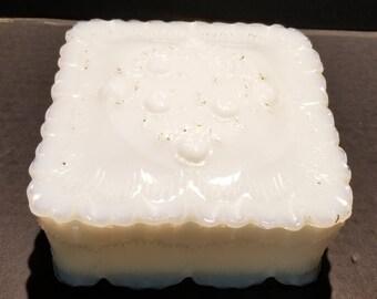 Milk Glass Trinket Box