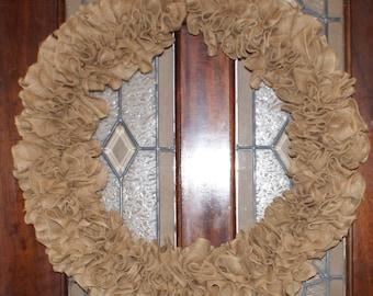 24 inch burlap wreath