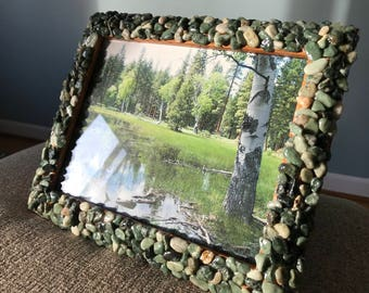 Large rock picture frame