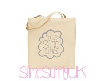 Slime tote bag | Slime bag | Children's slime gifts | Shopping bag | Tote bag or drawstring.