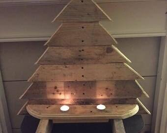 Handmade Christmas tree candle holder