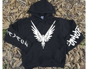 Maverick Logang Savage Sleeves white // Hoodie Sweatshirt