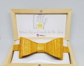 Yellow Crocodile Kid Bow Tie