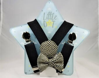 Baby and kids suspenders and bow tie set