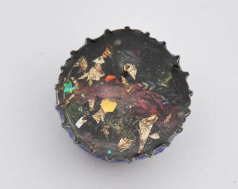 Orgonited Magnet, Gold, Red and Black