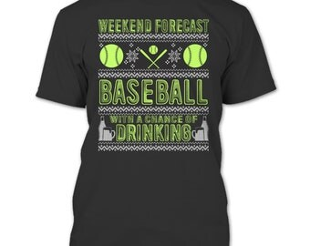 Weekend Forecast T Shirt, Baseball T Shirt