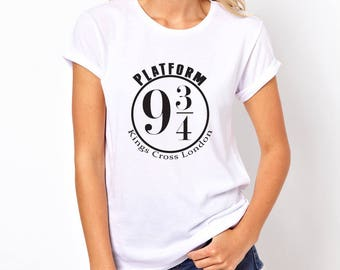 Harry Potter Platform 9 and 3/4 Womens T-shirt Choice of Colours