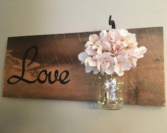 Fairy Light Love Sign-Classic white
