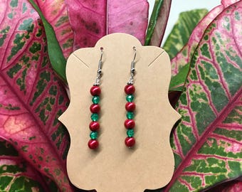 Red & Green Crystal beads