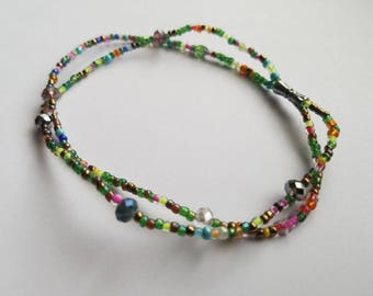 Multicolored Beaded Anklets, Anklets, Beaded Anklets