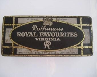 Rothmans Royal Favourites Virginia Cigarette Tin (100/empty) c.1920/30
