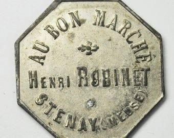Au Bon Marche Henri Robinet Jeton Prime France Trade Token 24mm