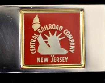 Franklin Mint Railroad Emblem Central Railroad Company New Jersey Sterling .76oz