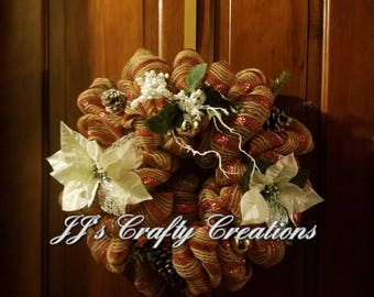Simply Poinsettia Wreath