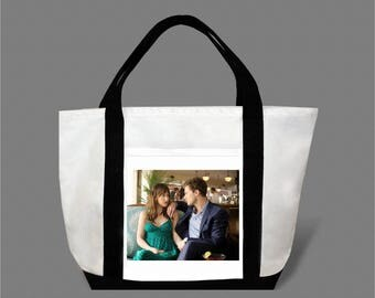 Dakota Johnson Jamie Dornan Canvas Tote Bag #0004