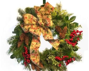 Fresh Chrisymas Wreath Made to Order