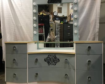 Kids Hollywood style make up vanity dresser