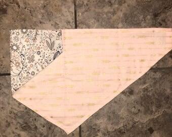 Arrows Bandana, Floral Bandana, Reversible Bandana, Slide-On Bandana