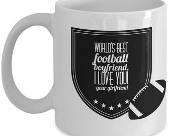WORLD'S BEST Football Boyfriend! Coffee Mug