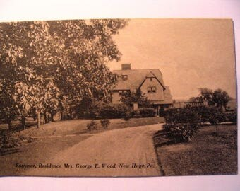 Postcard of: Residence of Mrs George E Wood in New Hope PA