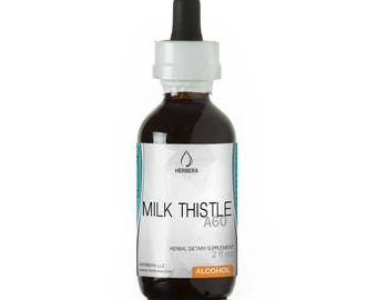 Milk Thistle Alcohol Herbal Extract Tincture, Super-Concentrated Organic Milk Thistle (Silybum marianum)