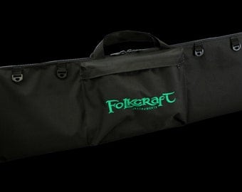 """Dulcimer Carrying Bag, Embroidered With """"Folkcraft Instruments"""" Logo"""