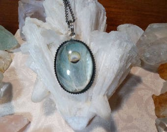 Real Luna Moth Wing Necklace Pendant