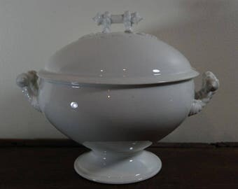 White Ironstone Soup Tureen - H & Co.